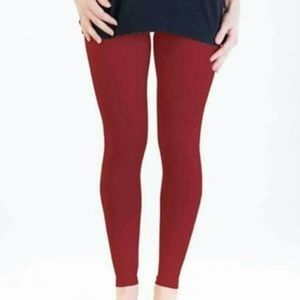 Burgandy Leggings by Agnes & Dora